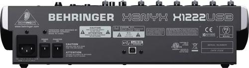 mezcladora  behringer con interfaz usb xenyx x1222usb full