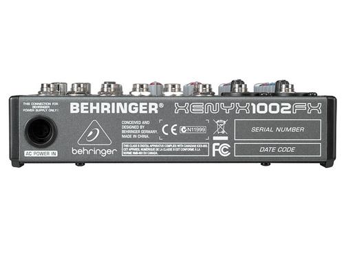 mezcladora behringer xenyx-1002 fx