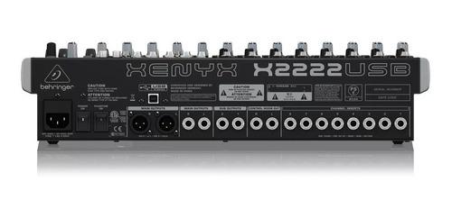 mezcladora behringer xenyx x2222usb interfaz usb