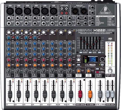 mezcladora consola x1222 usb behringer + envio