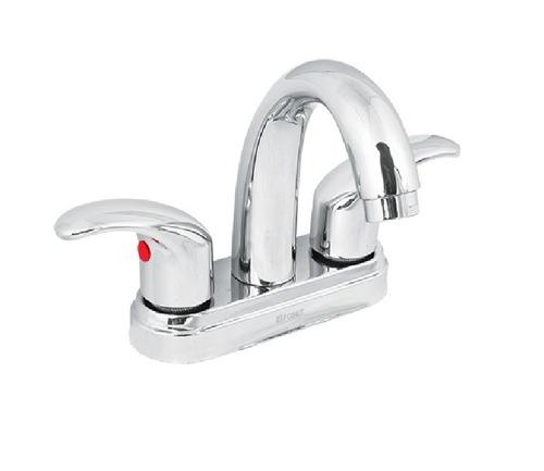 mezcladora de 4  para lavabo nariz curva, foset aqua 49693
