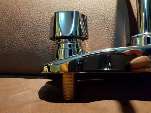 mezcladora flexible para fregadero 100% metálica cromada