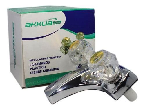 mezcladora lavamanos 4` plastica akkualine ff266 cierre cera
