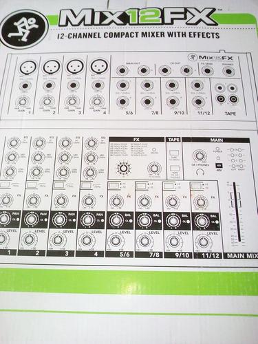 mezcladora mackie fx12, versátil, estrena