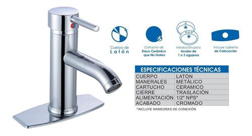mezcladora para lavabo monomando ecoacqua l210m.6