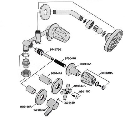 Mezcladora para regadera 2m cromo 807 cscc price pfis for Vastago para llave de regadera