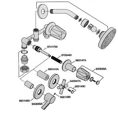 Mezcladora para regadera 2m cromo 807 cscc price pfis for Llaves para regadera