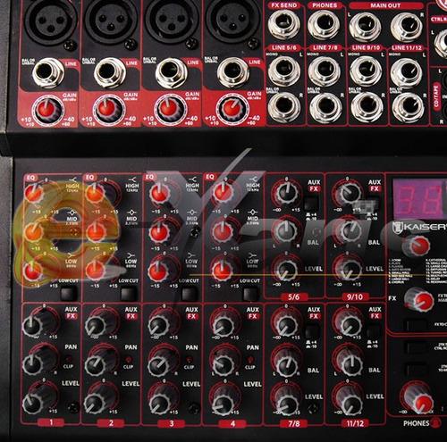 mezcladora profesional 12 canal 16 efectos rca sonoros xaris