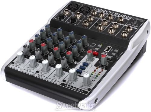 mezcladora qx602 mp3 behringer  karaoke efecto delay reverb