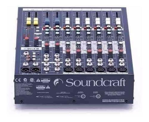 mezcladora soundcraft epm6 mixer 6 canales nueva