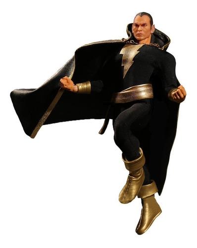 mezco 1:12 - dc - black adam action figure