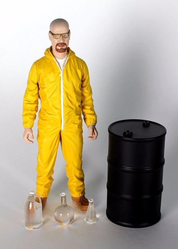 Mezco Breaking Bad Walter White In Yellow Hazmat Suit Ex ...