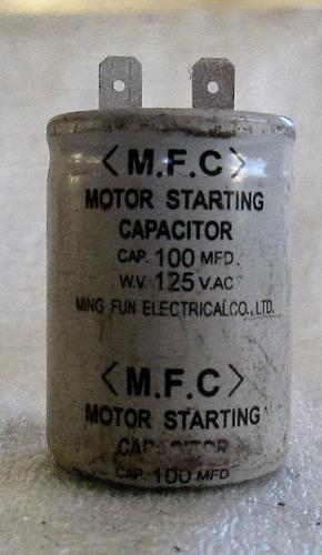 mfc capacitor arranque de motor ac/dc usado