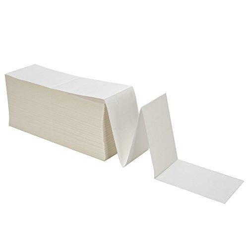 mflabel 2 stacks fanfold etiquetas térmicas directas de 4 x