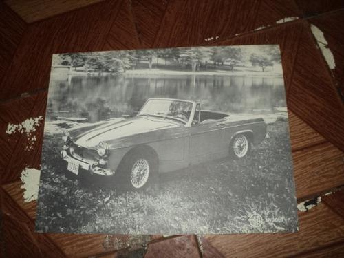 mg-midget 1965 folheto de concessionaria