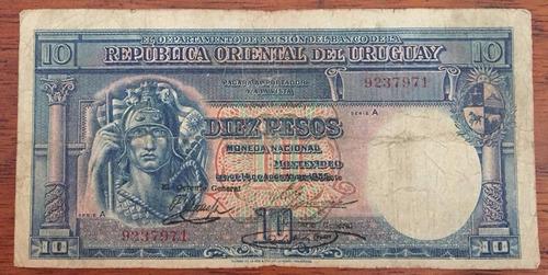 mg* uruguay billete de 10 pesos año 1935