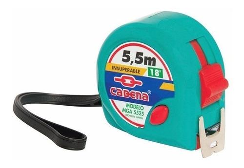 mga-5525  flexometro cadena 5.5 mt.verde aqua (72)