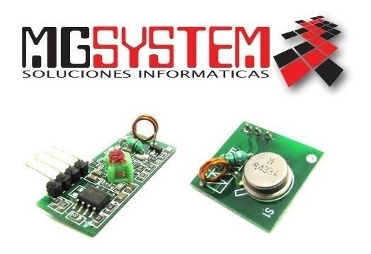 Mgsystem Arduino 433mhz Rf Modulos Comunicación Tx + Rx - U