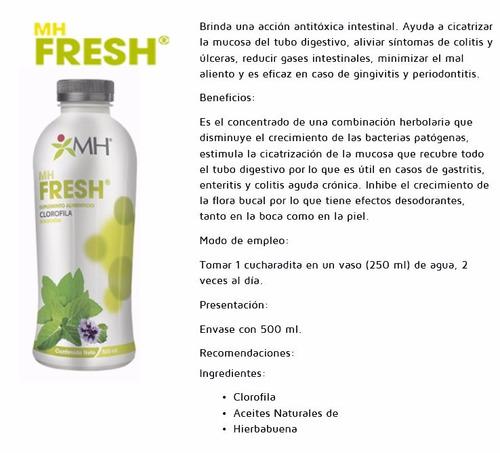 mh fresh (clorofila, menta & hierbabuena) freshealth