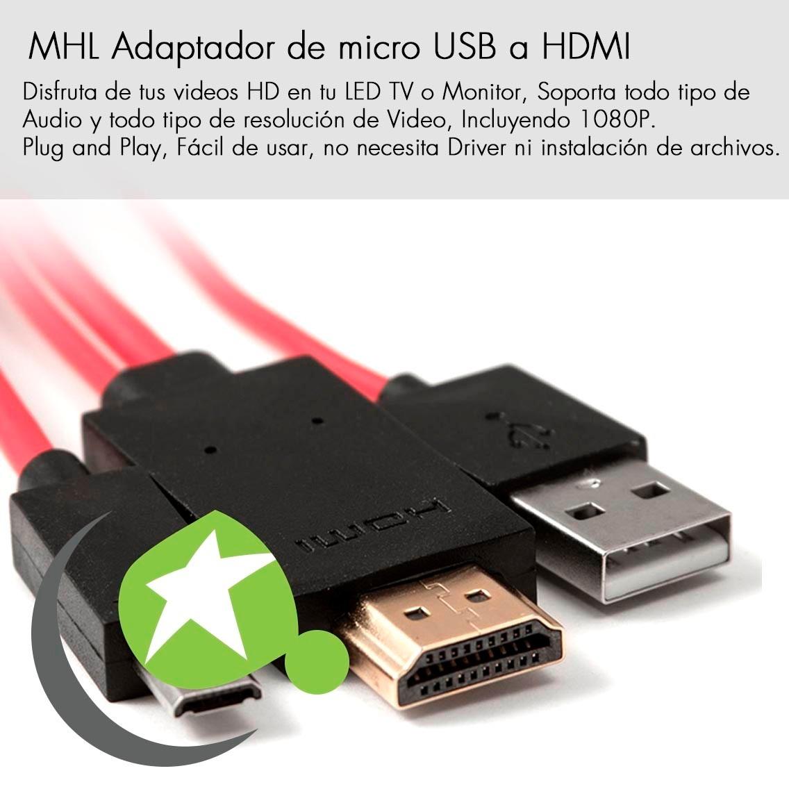 Mhl Adaptador Micro Usb Hdmi Sony Xperia Z1 Compact Ultra
