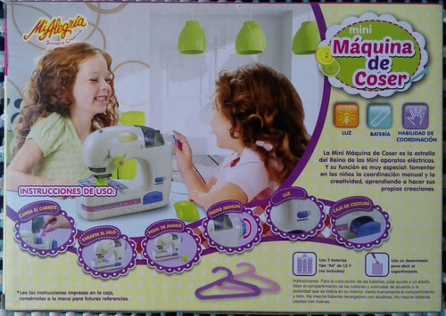 mi alegría mini máquina de coser seguros e inofensivos