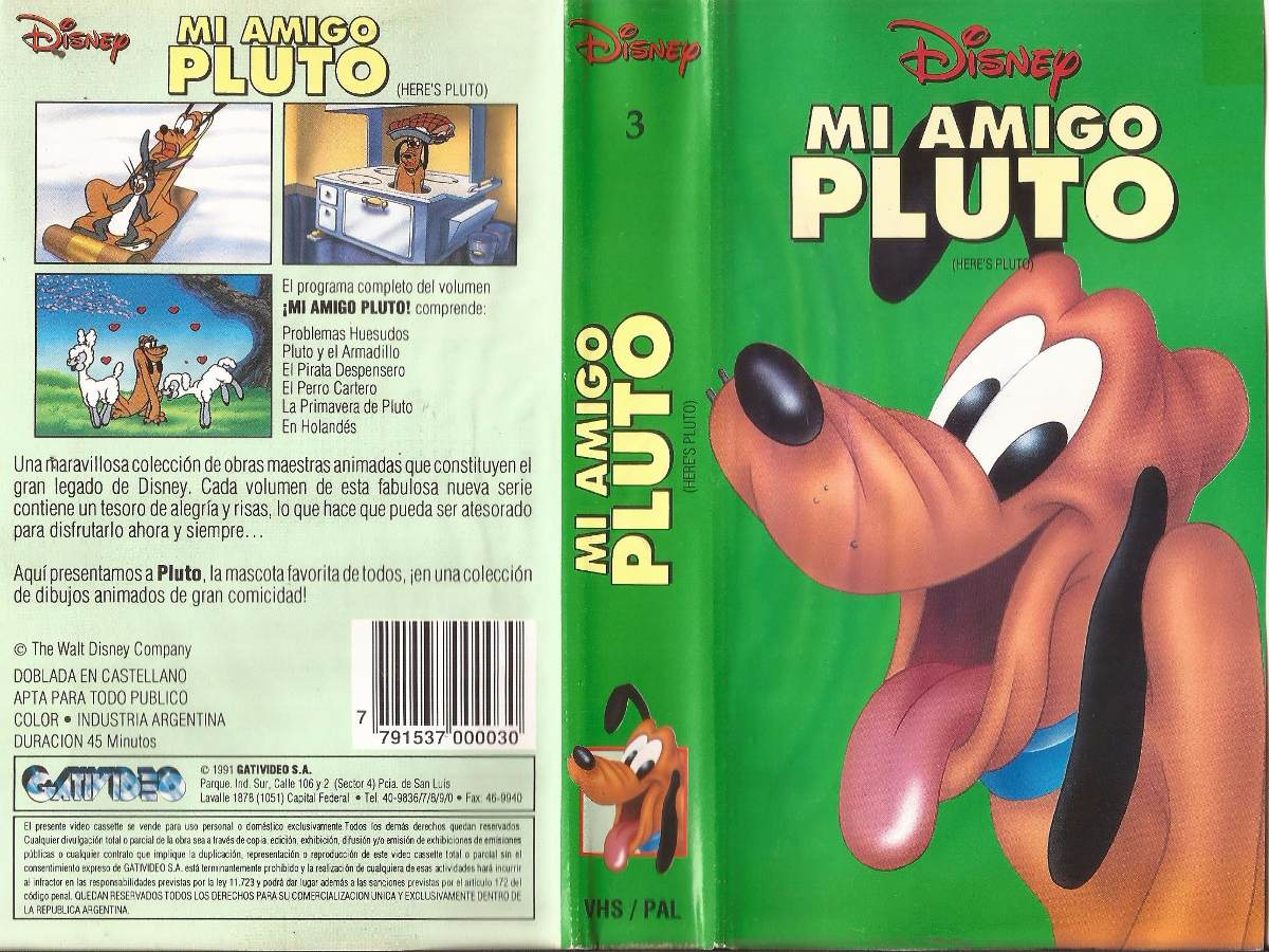 Mi Amigo Pluto Vhs Walt Disney Minnie Donald Vhs Castellano 50