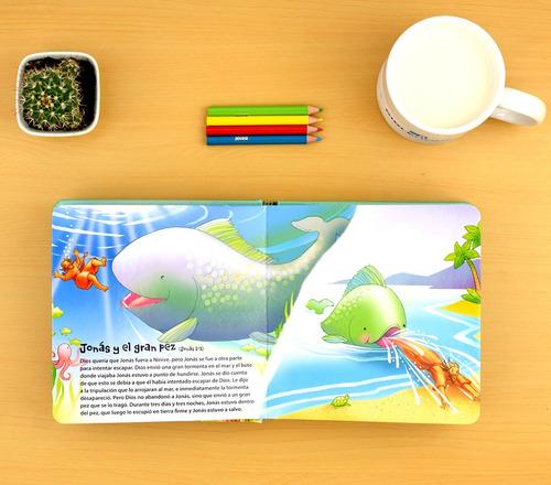 mi biblia para niños y bebés - libro ilustrado a todo color