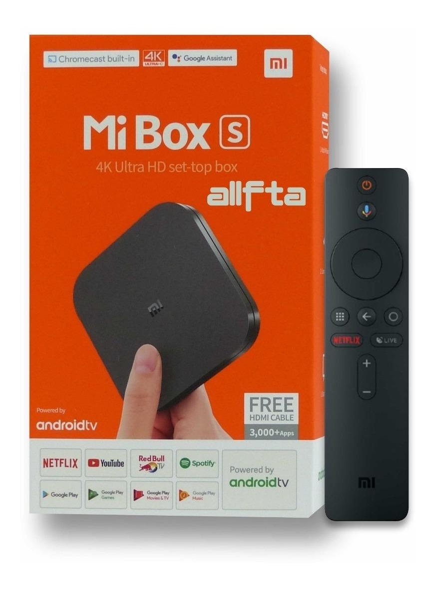 Mi Box S 4k Xiaomi Google Assistant Android Tv 8 1