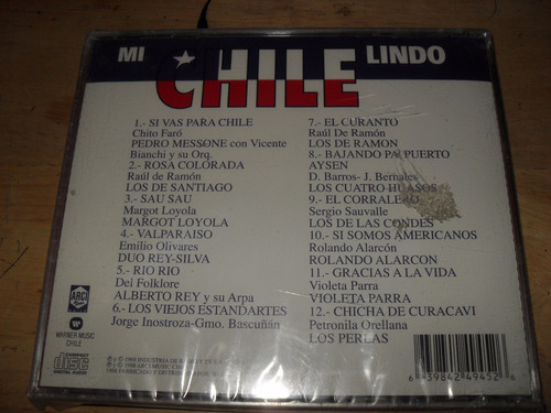 mi chile lindo cd original importado de chile nuevo 1998