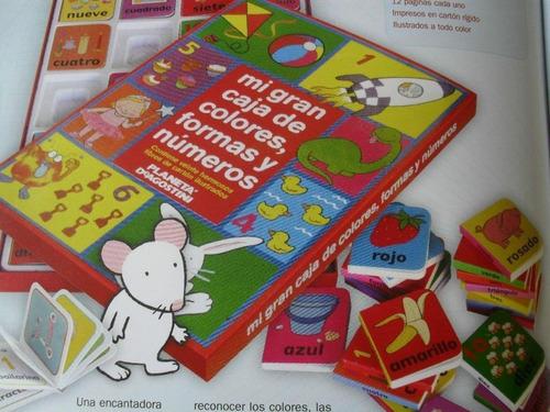 mi gran caja d colores,formas,números.20 libros env gratis