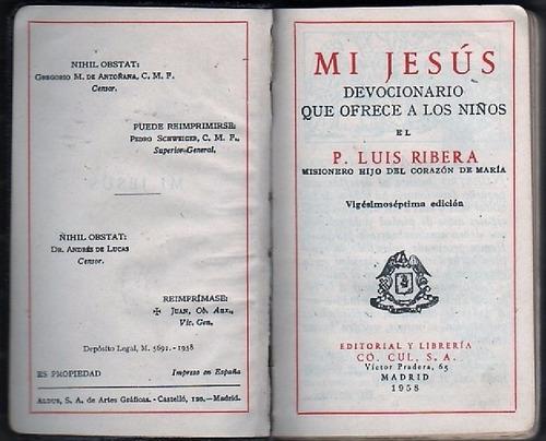 mi jesús: devocionario que ofrece a los niños luis ribera