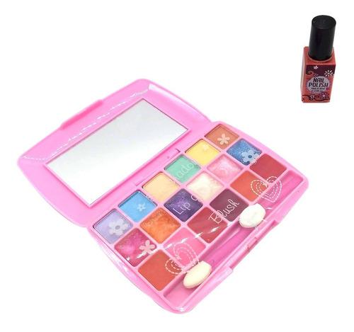 mi juego de maquillaje set de belleza estuche mediano nenas