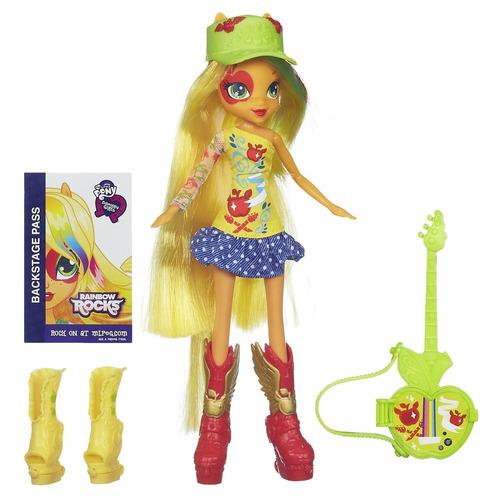 mi pequeño pony equestria applejack doll cantante guitarra