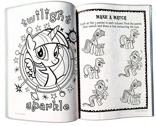 Mi Pequeño Pony Para Colorear Y Libro De Actividades - Con R ...