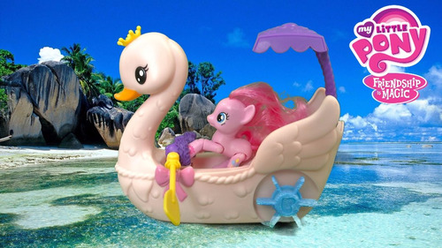 mi pequeño pony pinkie pie paseo en el bote cisne giro didác