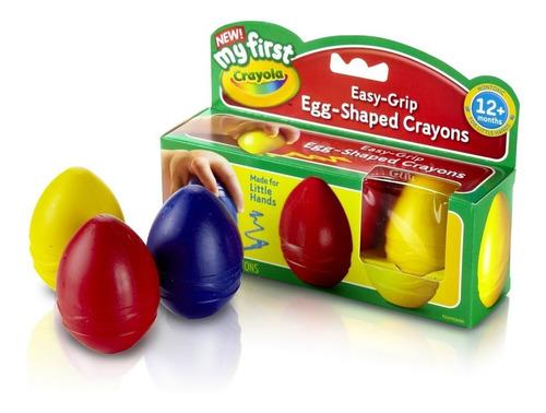mi primero crayola la forma de huevo lápices de color 3-colo