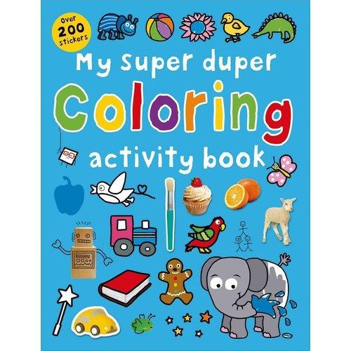 mi super duper para colorear libro de actividades