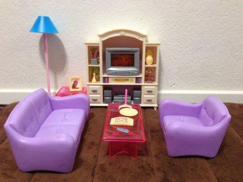 Mi Vida De Fantasía Barbie Tamaño Dollhouse Muebles, Sala D ...