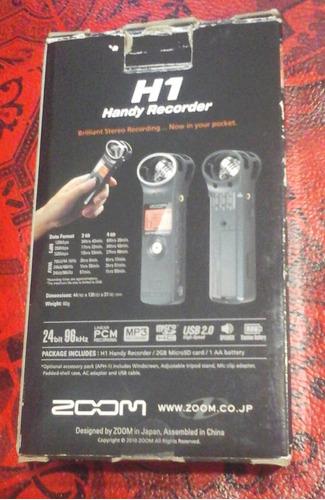 mic zoom h1 usado se uso una vez  impecable
