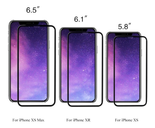 mica 5d pega toda la pantalla iphone x - xs - xr - xs max