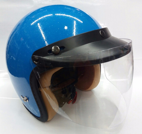 mica abatible para casco torc o 3/4 transparente rider one