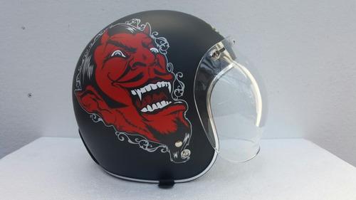 mica burbuja para casco abierto 3/4 rider one