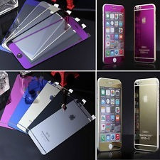 mica cristal 9h iphone 5 6 6s plus colores  front+back