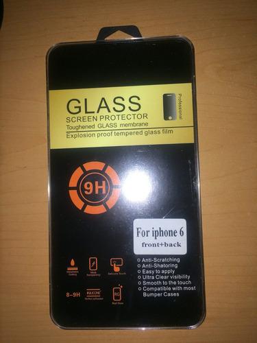 mica cristal alto impacto iphone  6  frontal y trasera