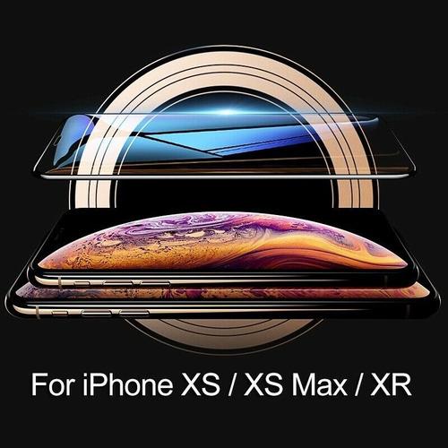 mica cristal de vidrio templado 9d @ iphone x xs max xr