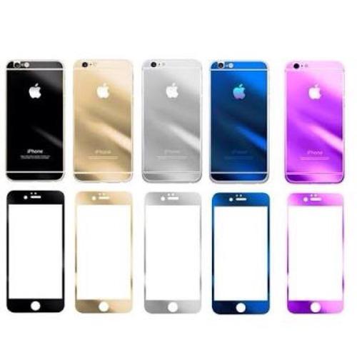 mica cristal templado espejo iphone 6 colors front+bac