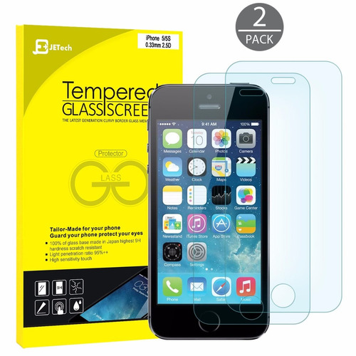 mica cristal templado iphone se 2-pack premium hd