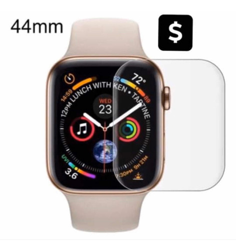 mica cristal templado para apple watch 44 mm