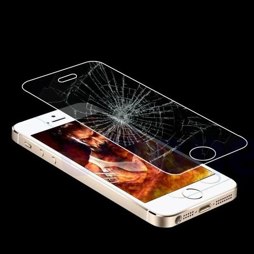 mica de vidrio templado 0.4 real protección iphone 5 5s 5c