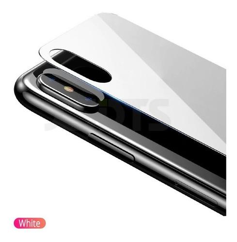 mica de vidrio templado 3d iphone x xs trasera posterior